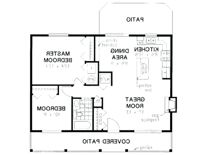 1000 square foot home floor plans layout house 2 bedroom a 1000 Sq Ft Cabin Floor Plans