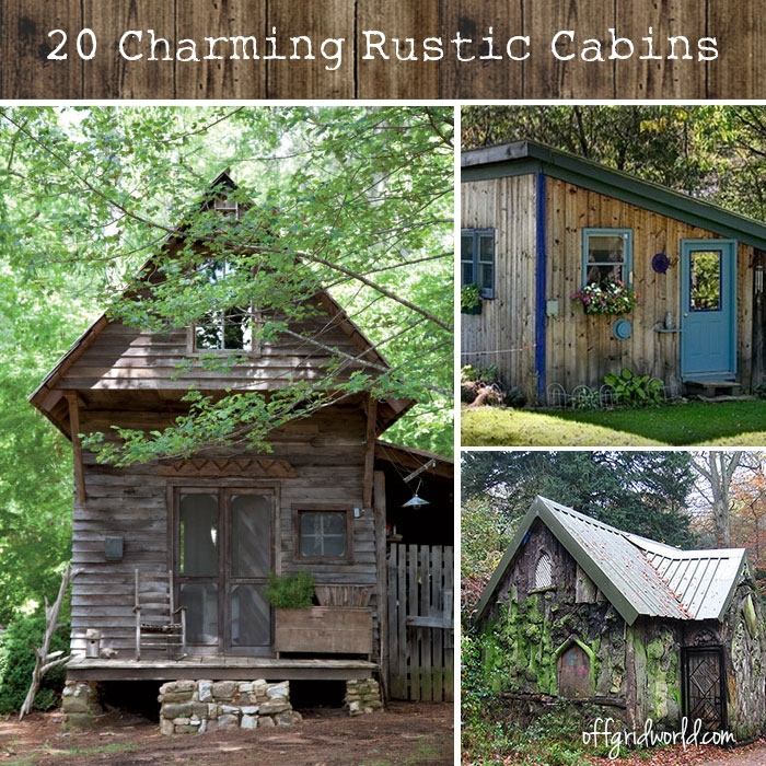 20 exquisitely charming rustic cabins off grid world Small Rustic Cabins