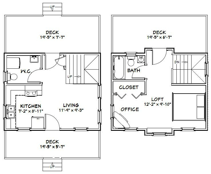 20 x 20 house floor plans ideas for the house in 2019 20 X 20 Cabin Plans