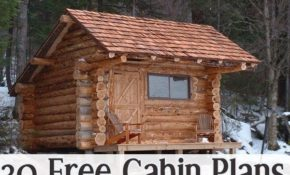 30 free cabin plans for diyers wood working small log Small Cabin Plans Free