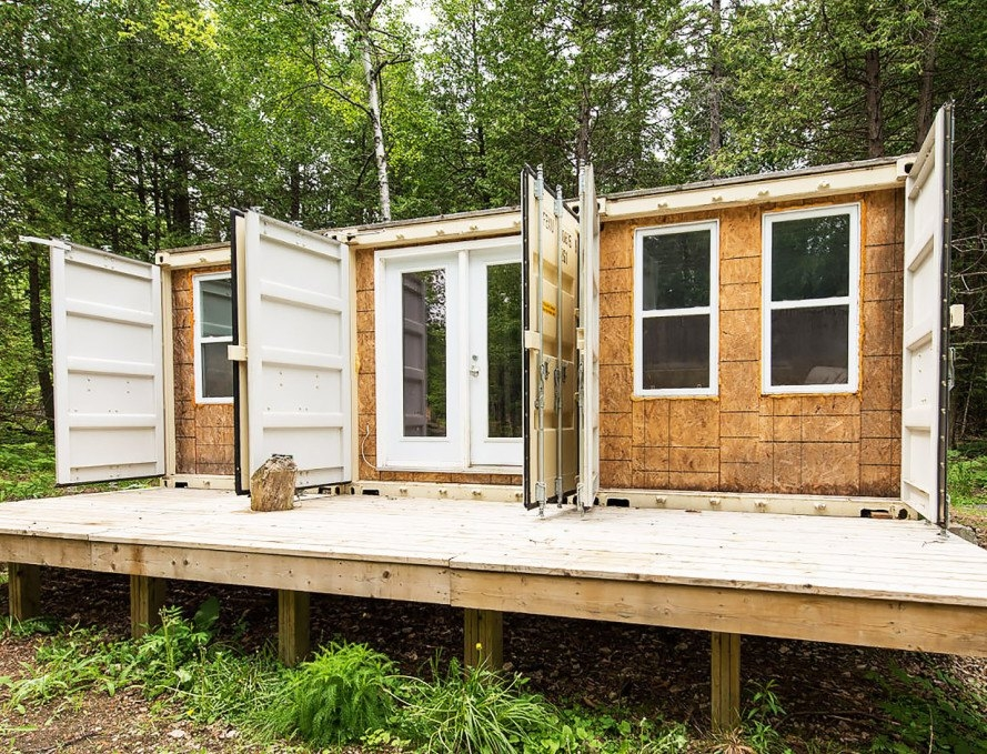 a canadian man built this off grid shipping container home Shipping Container Cabins