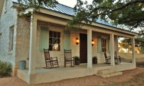 a stone cottage in texas inspired the holiday Small Cabins Texas