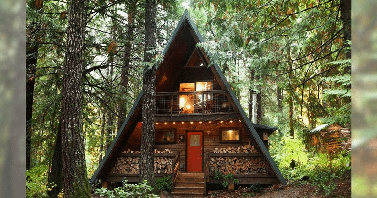 adorable a frame cabin in washington state Cabins Washington State