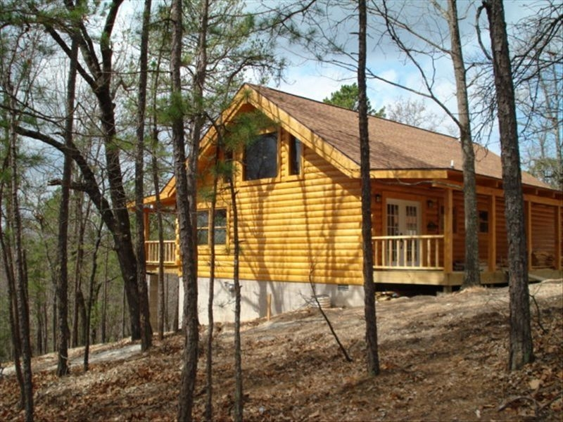 branson mo log cabin private porch quiet mtn forest view above lake handicap blue eye Cabins Near Branson Mo