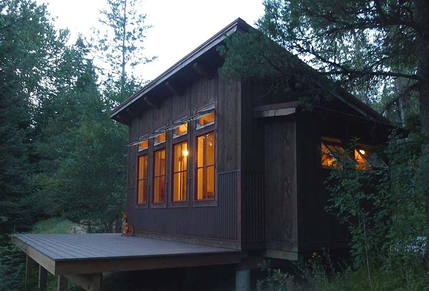 built this shed roof cabin and placed it on customers Shed Roof Cabin Plans