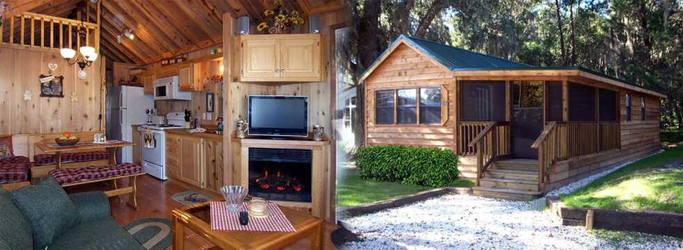 cabins and vacation rentals at the central florida riverside Cabin Camping In Florida