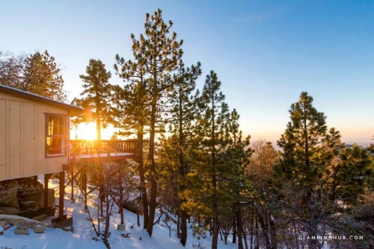 elegant mountain cabin rental with stunning sunset views of lake arrowhead in green valley lake california Green Valley Lake Cabins