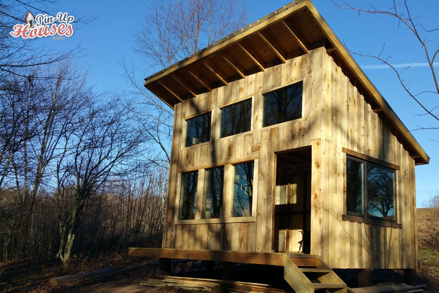 elevated cabin plans virginia Shed Roof Cabin Plans