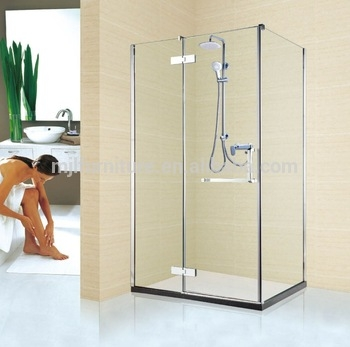 factory directly selling simple glass sliding door bathroom luxury shower cabin with frameless glass hinges bath room buy simple glass sliding Bathroom Glass Cabin