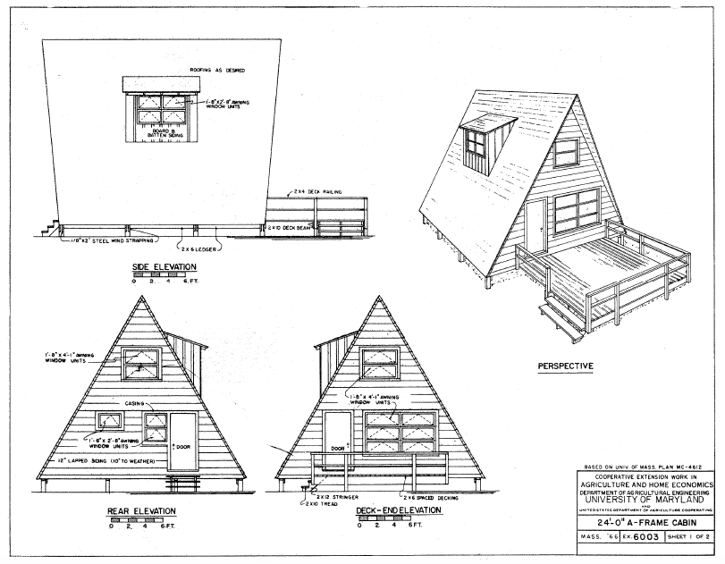 free e book guaranteed building plans 200 house plans AFrame Cabin Floor Plans With Loft