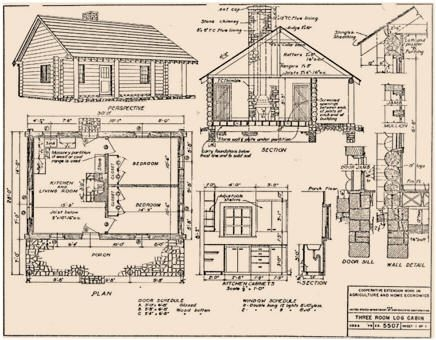 free log cabin designs from north dakota state university Small Cabin Plans With Loft Free