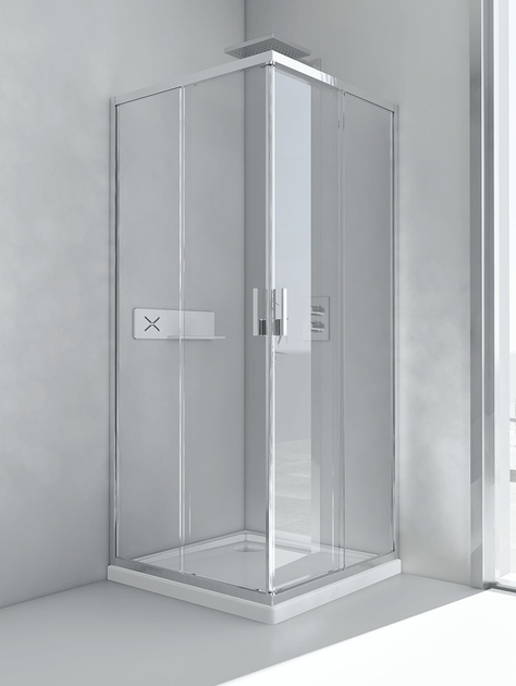 glass and aluminium shower cabin with sliding door Bathroom Glass Cabin