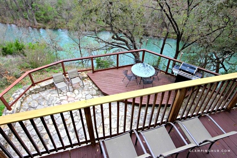 homey 12 person cabin rental along the guadalupe river in texas River Cabins Texas