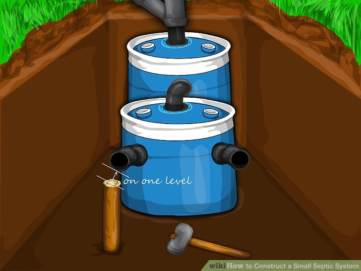 how to construct a small septic system with pictures wikihow Small Septic System For Cabin