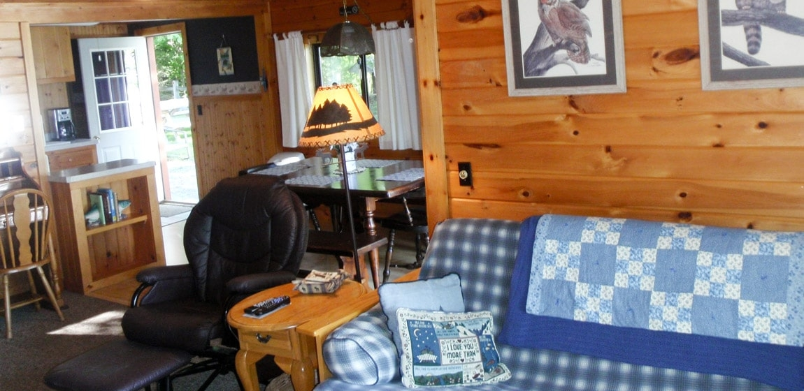 lakefront cabin rental in new england maine lakefront cabin Cozy Moose Cabins