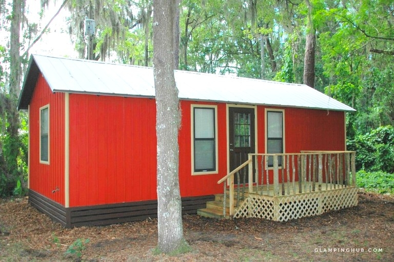 large peaceful camping cabin in central floridas natural forest near ocala Cabin Camping In Florida
