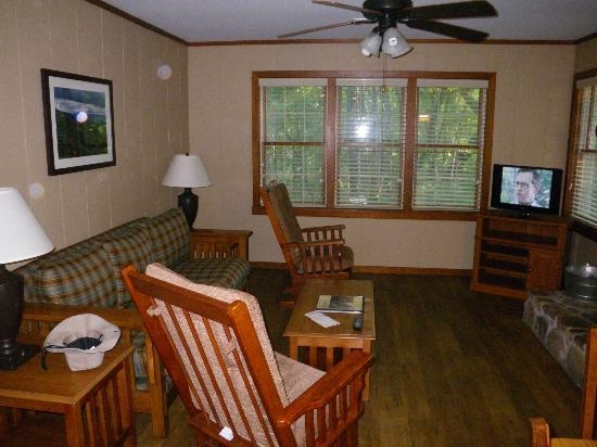 living room picture of cloudland canyon state park cabins Cloudland Canyon Cabins