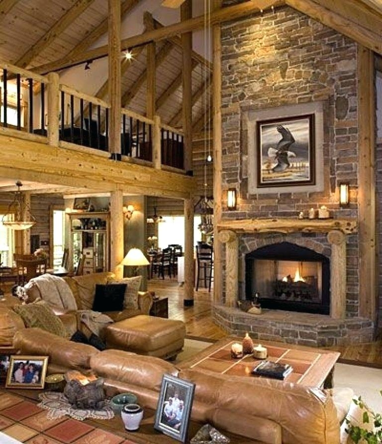 Permalink to Cozy White Walls Brown Furniture Cabin Style Home Ideas