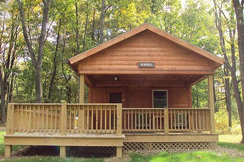 lodging locations map Pa State Parks Cabins