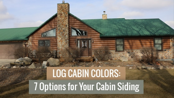 log cabin colors 7 options for your cabin siding tru log Cabin Siding Options