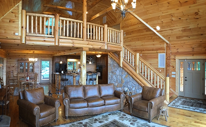 log cabin home floor plans the original log cabin homes Two Story Log Cabin Layouts