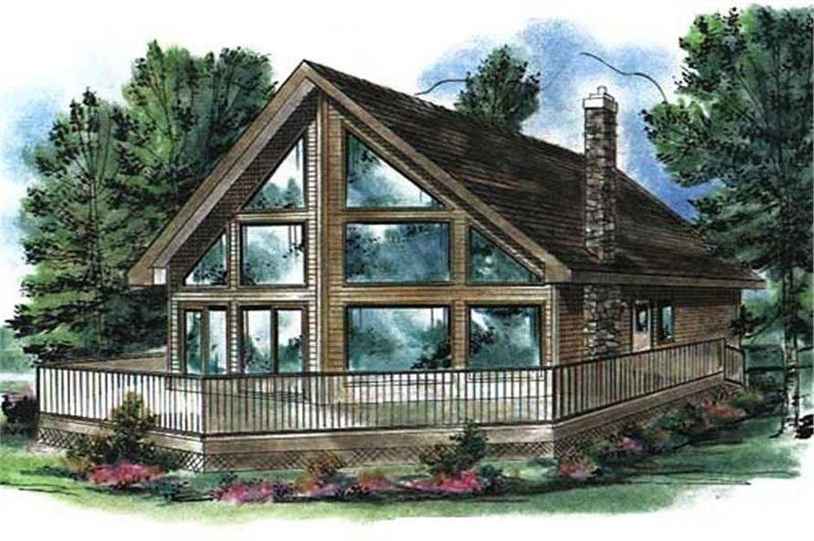 log cabin house plan 2 bedrms 1 baths 1122 sq ft 176 1003 Cabin With Loft Plans