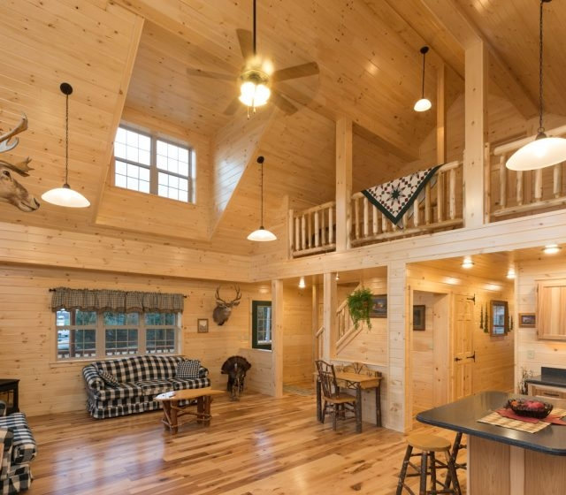 log cabin interior ideas home floor plans designed in pa Small Cabins With Lofts