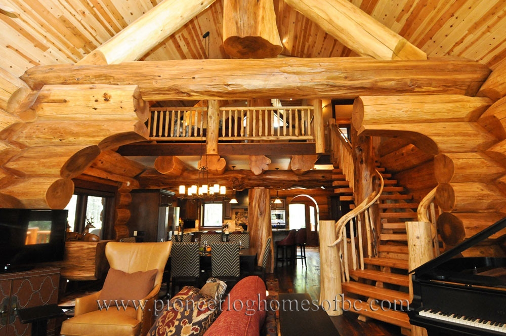 log cabin style living room loft designs bc canada Cabin Designs With Lofts