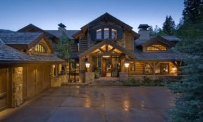luxury cabin in colorado surrounded towering timbers Luxury Cabins In Colorado