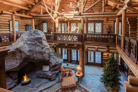 luxury log cabin living in upstate new york mansion global Log Cabin Upstate Ny