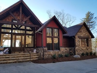 luxury mountain cabin with sunset vista view blue ridge Blue Ridge Mountains Cabins