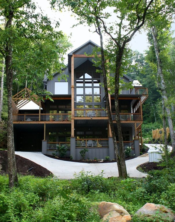 modern luxury river house rivermac on the toccoa blue ridge Toccoa River Cabins