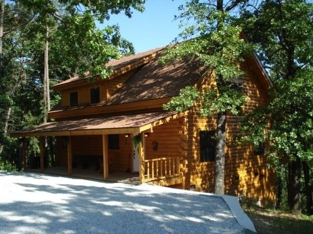 new log cabin rental secluded forest views table rock lake Cabins Near Branson Mo