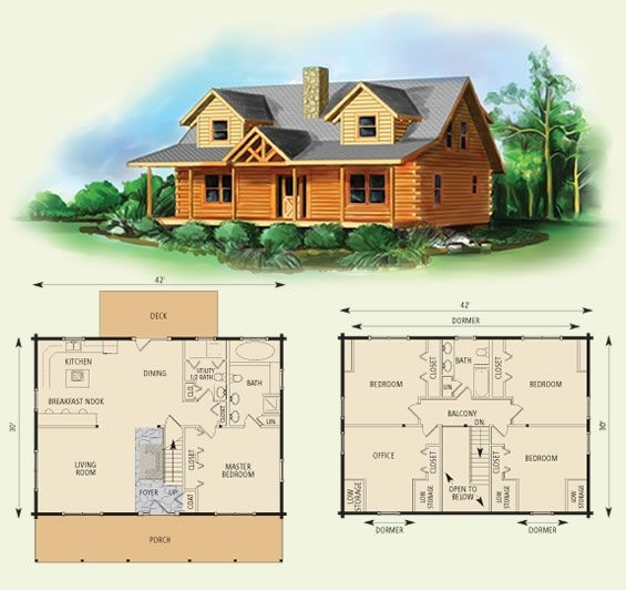 northridge i log home and log cabin floor plan i would Two Story Cabin Plans