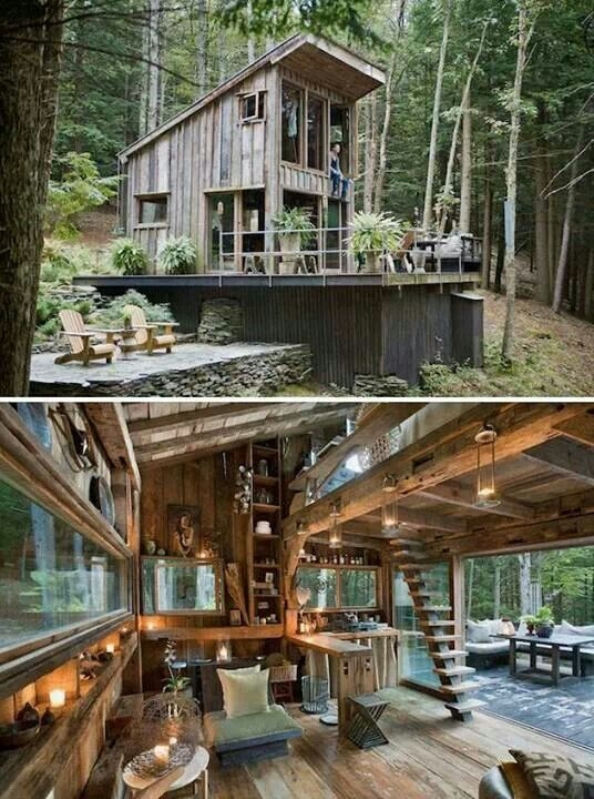 off the grid new york cabin in the woods destinations Rustic Cabin Designs