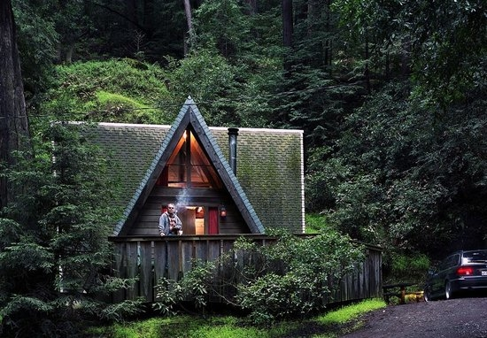 our a frame cabin picture of big sur campground cabins Cabins In Big Sur