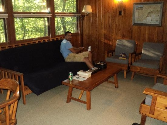 our cabin living room picture of hanging rock state park Hanging Rock Cabins