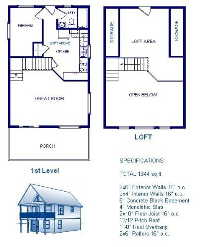 pin on cabin 24x24 Cabin Plans With Loft