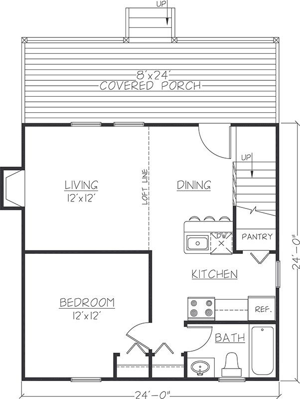pin on floor plans 24x24 Cabin Plans With Loft