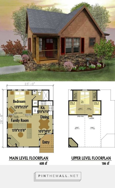 pin on tiny house love Small Cabin Designs
