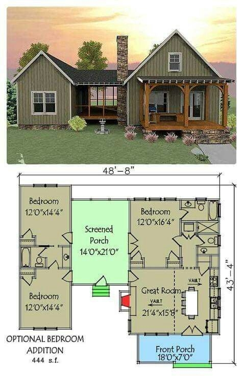 plan 92318mx 3 bedroom dog trot house plan dog training Small Cabin Plans With Loft And Porch