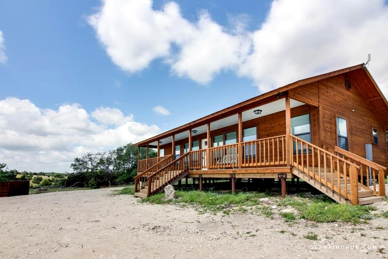 remote cabin rental for six near blanco state park in texas hill country Blanco State Park Cabins