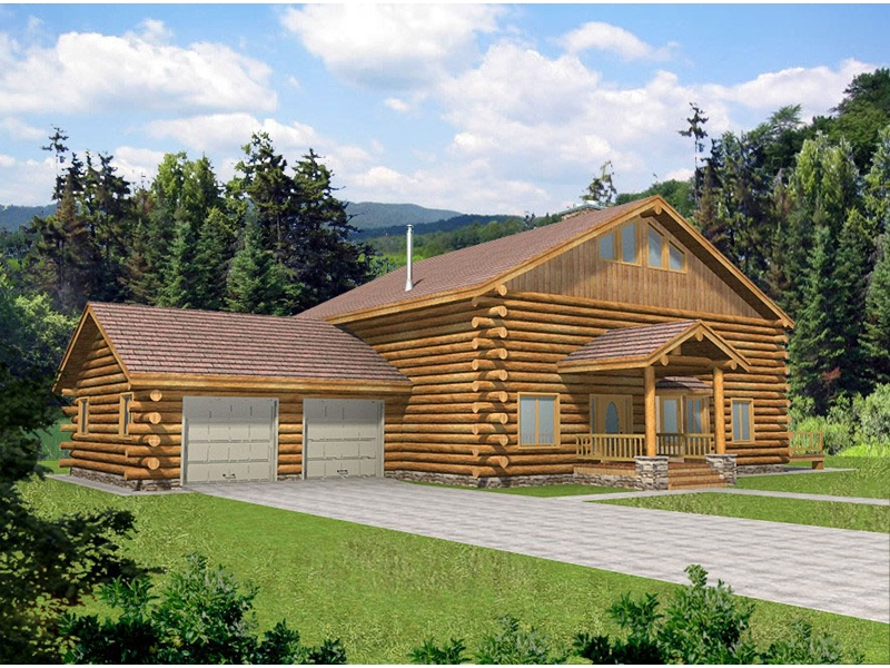 riverway rustic log home plan 088d 0042 house plans and more Two Story Log Cabin Layouts