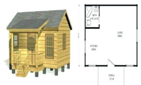 rustic cabin plans bobbrousseau Small Cabin Plans Free