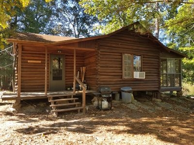 secluded 1930s log cabin on east texas private fishing lake linden Fishing Cabins In Texas