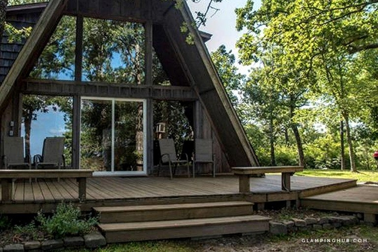 secluded a frame cabin with incredible views near mountain fork river in oklahoma Secluded Cabins In Oklahoma