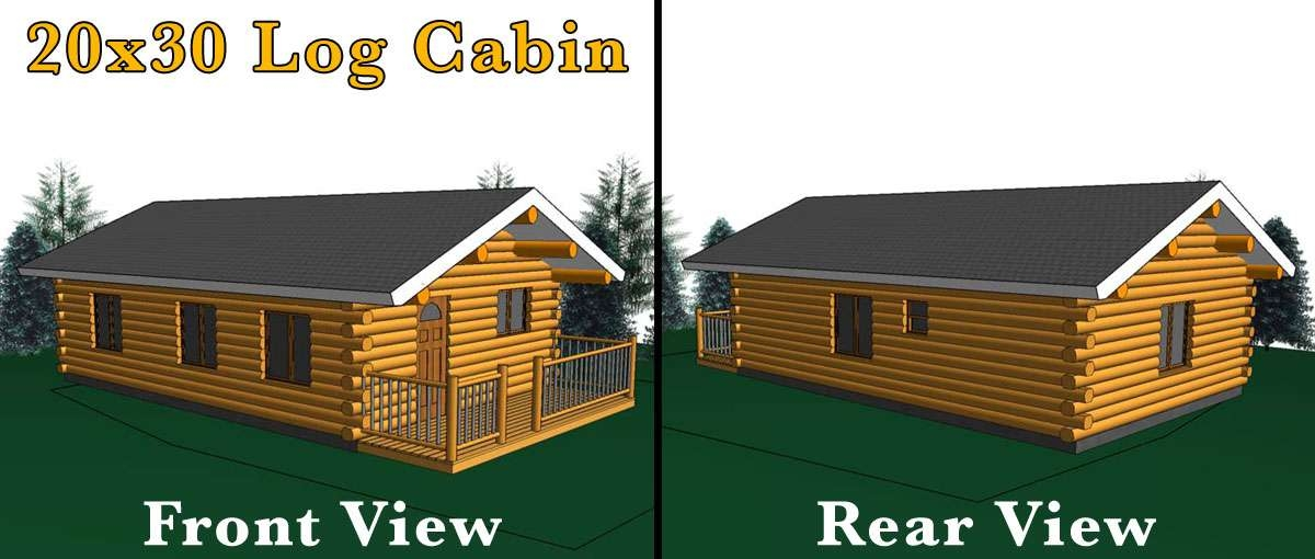 silver butte 20x30 log cabin meadowlark log homes 600 Square Foot Log Cabin