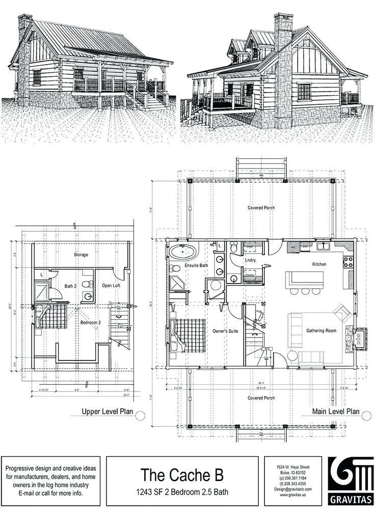 small 2 story log cabin tarcisio Two Story Log Cabin Layouts