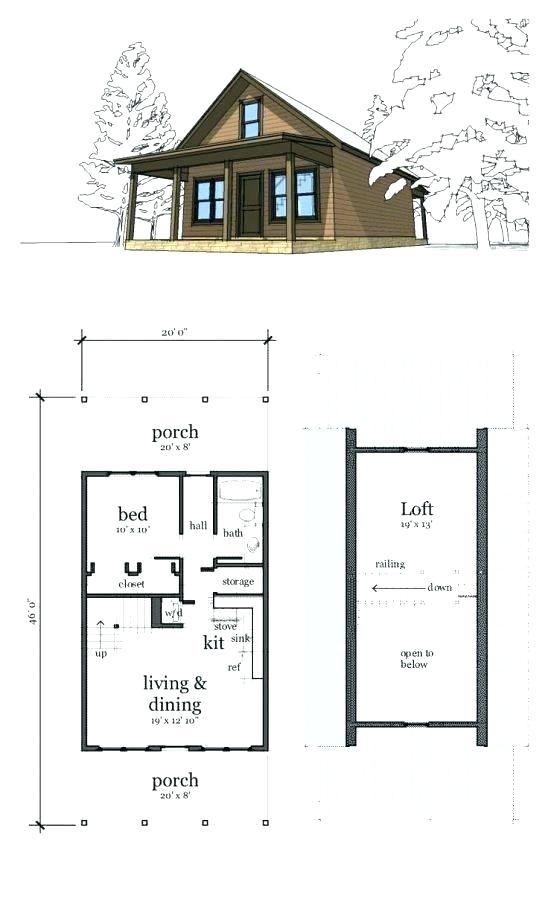 small cabin floor plans 24×24 Cabin Plans With Loft