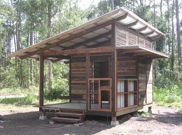 small cabin with a slanted roof oliver in 2019 pallet Slant Roof Cabin With Loft